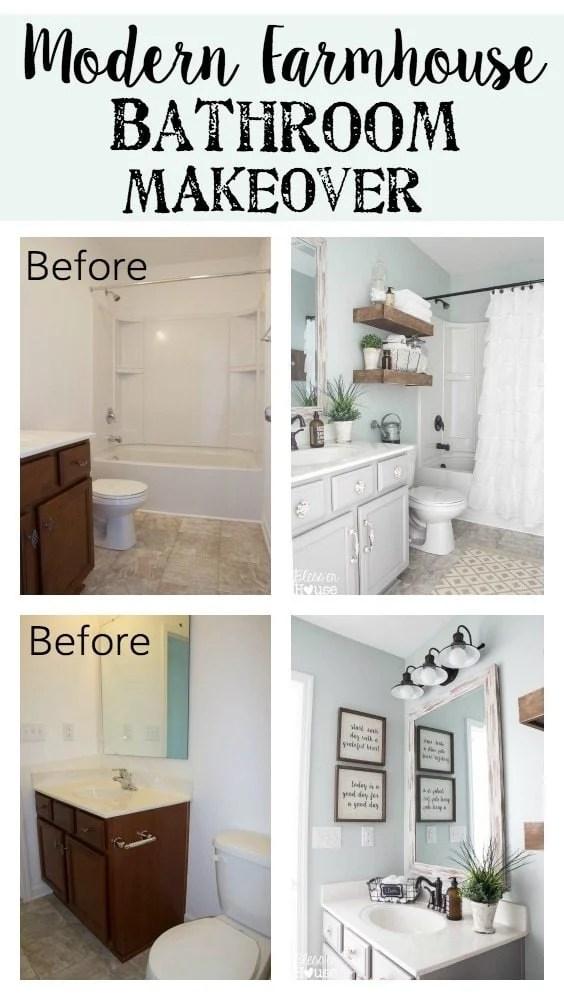 Modern Farmhouse Bathroom Makeover | Bless'er House - So ... on Modern Farmhouse Bathroom Ideas  id=73736