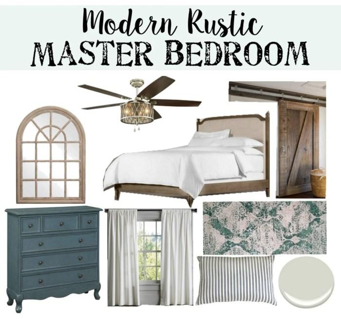 Modern Rustic Master Bedroom Design Plan | www.blesserhouse.com