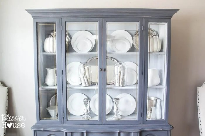 French Provincial China Cabinet Makeover in 2 Easy Steps | blesserhouse.com