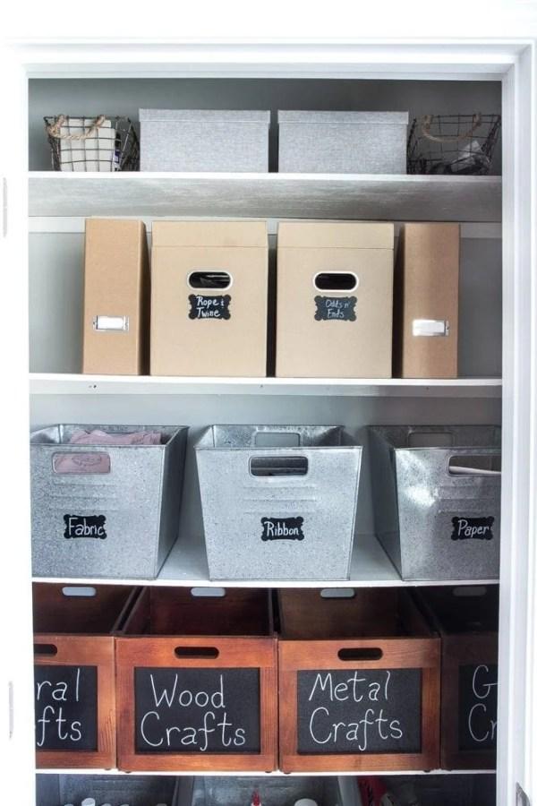 How to Organize a Craft Closet Like a Rockstar | blesserhouse.com