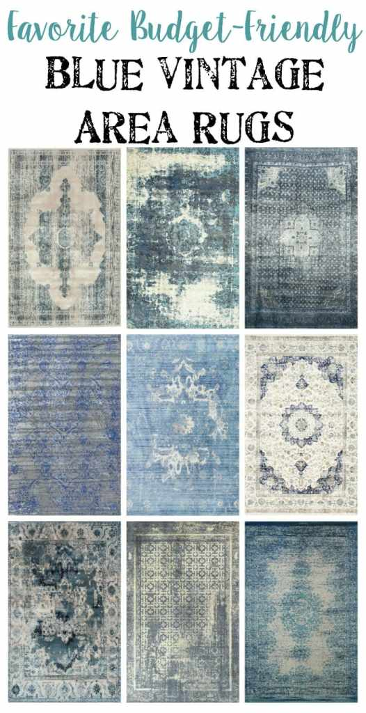 Favorite Budget Friendly Blue Vintage Rugs | blesserhouse.com - I love how all of them are a little bit traditional and a little bit modern all at once! Slightly edgy but still timeless.