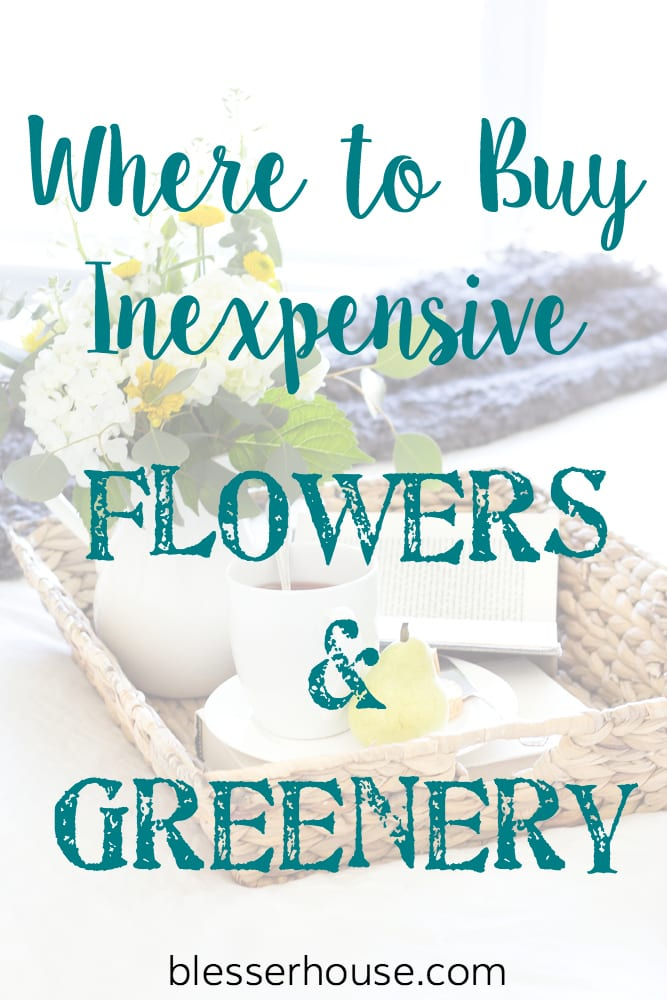 Where to Buy Inexpensive Flowers and Greenery | blesserhouse.com