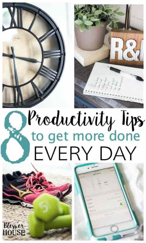 8 Productivity Tips to Get More Done Every Day | blesserhouse.com - Great tricks to implement in your daily routine to be more productive and get ahead!