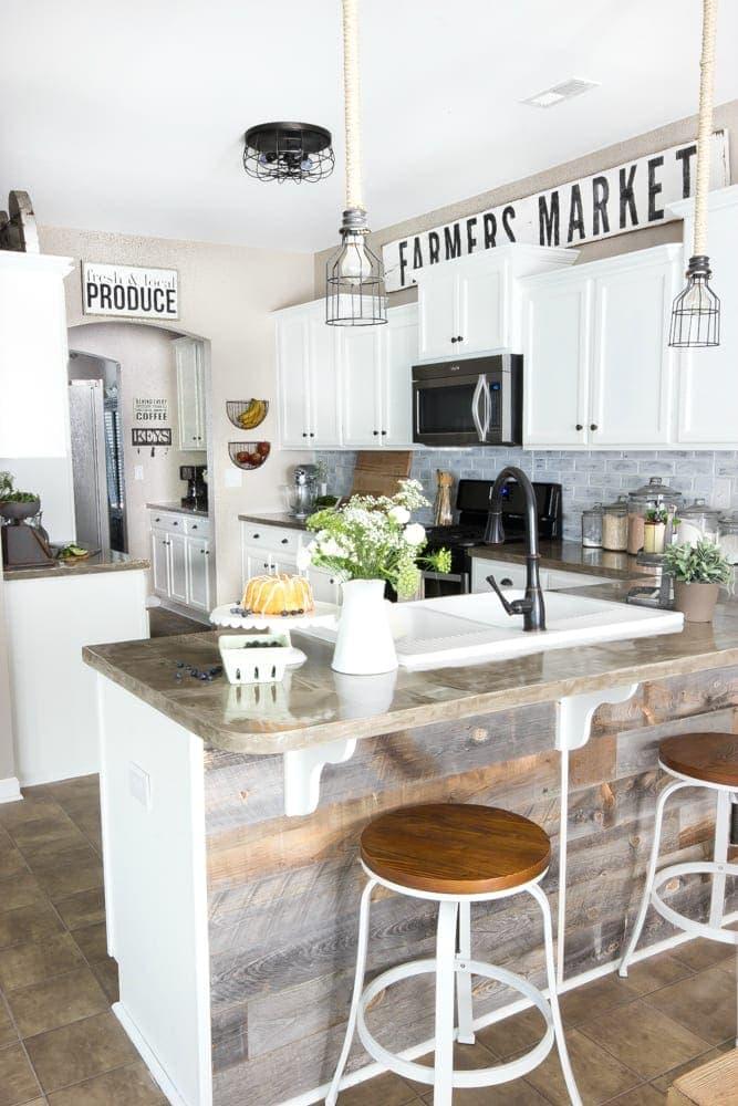 Modern Farmhouse Kitchen Makeover Reveal - Bless'er House on Farmhouse Kitchen Ideas  id=46072