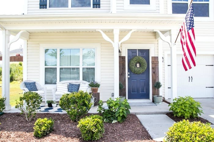 Summer Porch and Yard Progress   blesserhouse.com