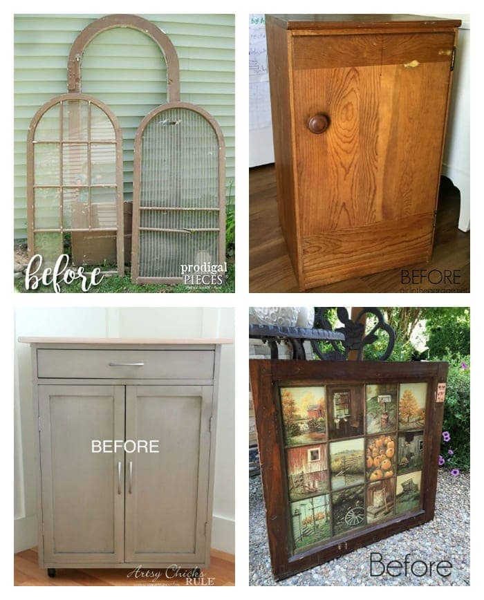 Repurposed Mirror Picture Frames | blesserhouse.com - How to repurpose mirrors into picture frames along with an honest first-timer's review of Joanna Gaines' Magnolia Home Paint.