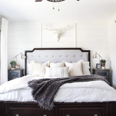 Rustic Modern Master Bedroom Reveal and Sources