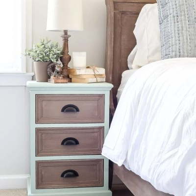 Two Tone Nightstands Makeover