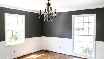 Living Room Makeover - High Contrast Paint - Bless\'er House