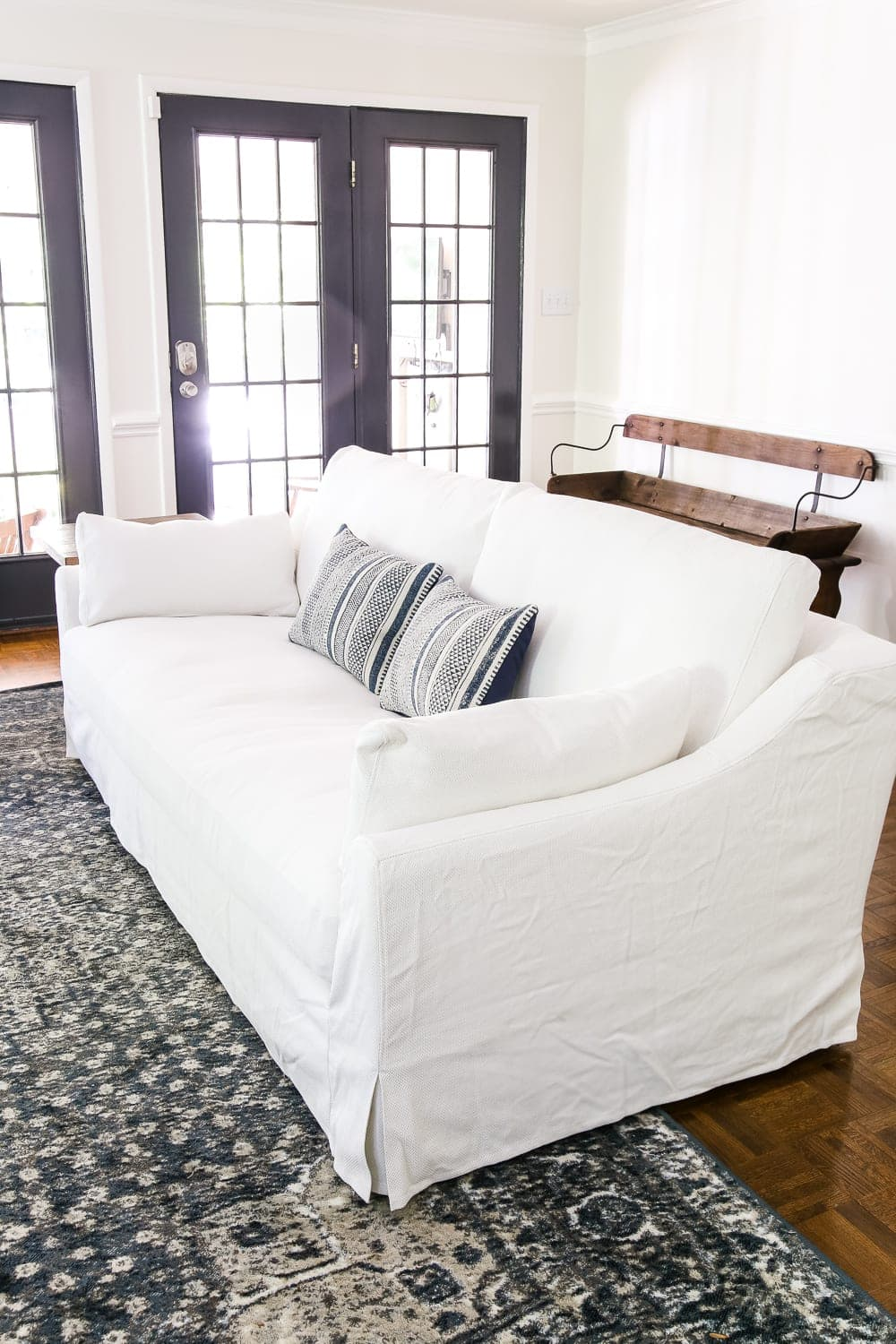 Linkshare innovative textile solutions harper stripe with straps sofa furniture protector slipcover. IKEA's New Sofa and Chairs and How to Keep Them Clean ...