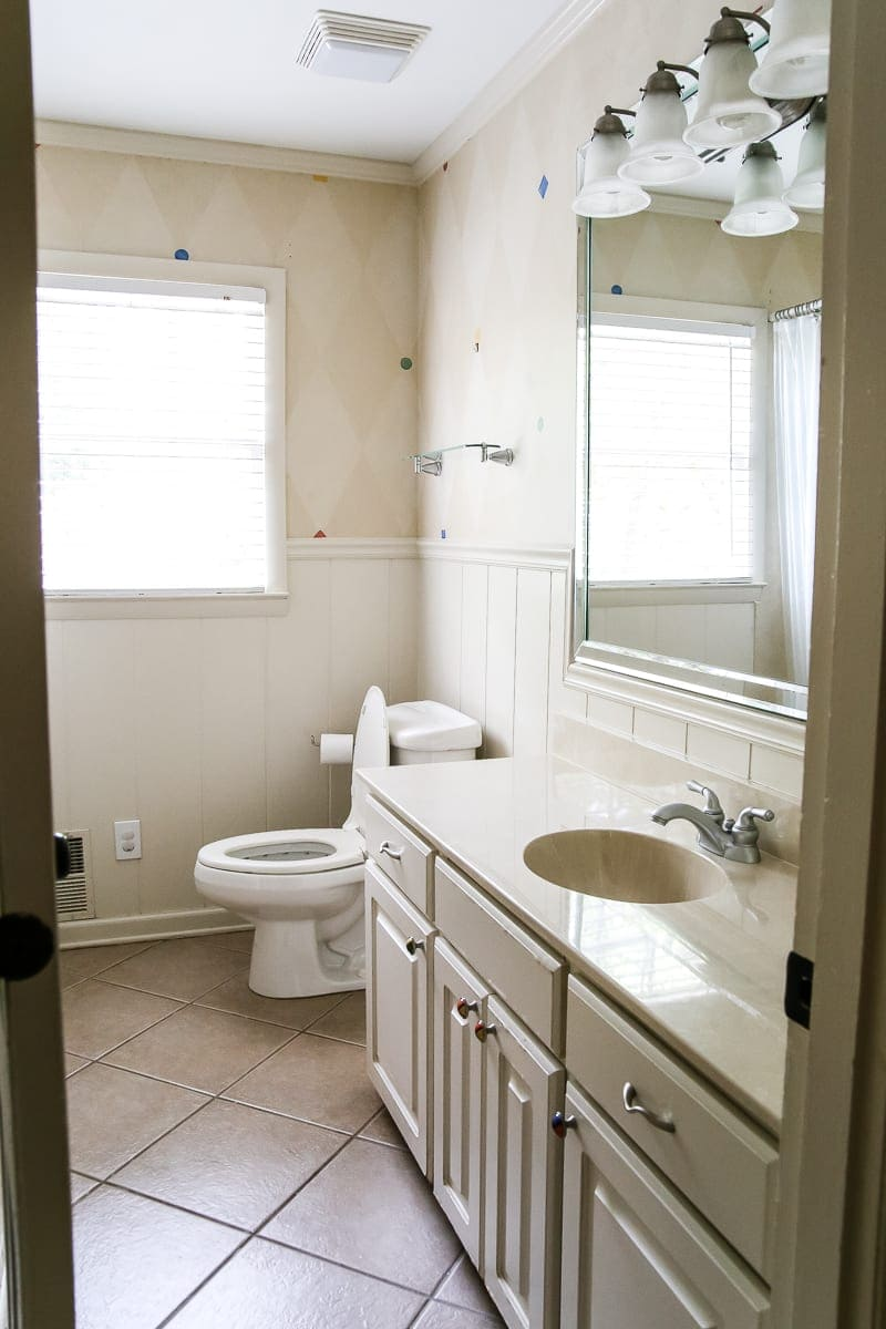 Painted Cabinet Bathroom Update Blesserhouse Com A Dated Cabinet Gets A Refresh With