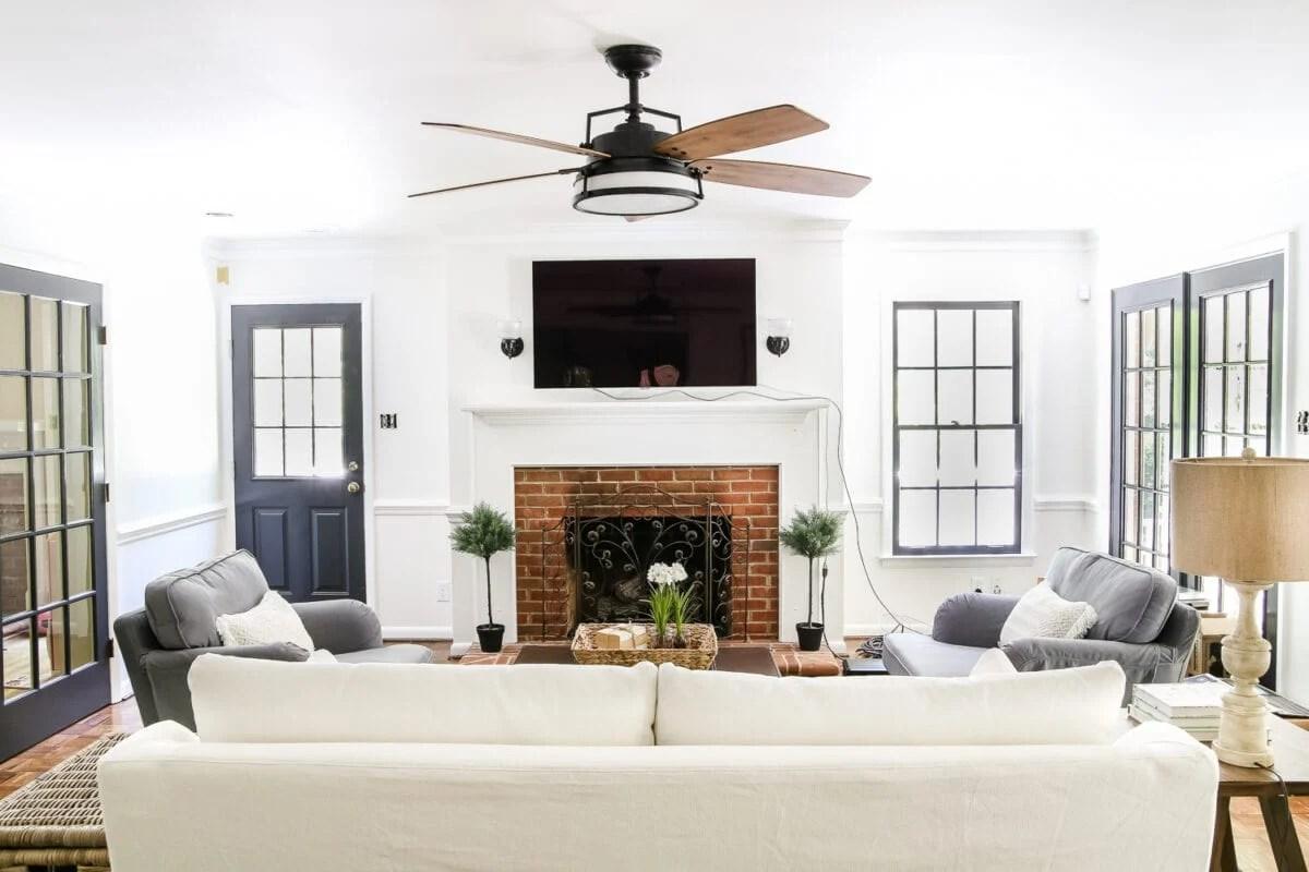 Living Room Update Ceiling Fan Swap Bless Er House