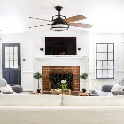 Living Room Update: Ceiling Fan Swap