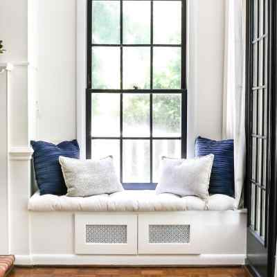 DIY Window Seat From a Kitchen Cabinet
