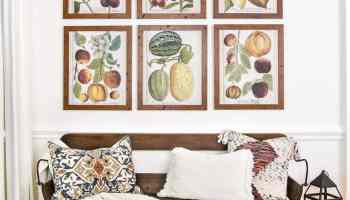 Botany Printable Art and a Wall Decor Hanging Trick - Bless'er House