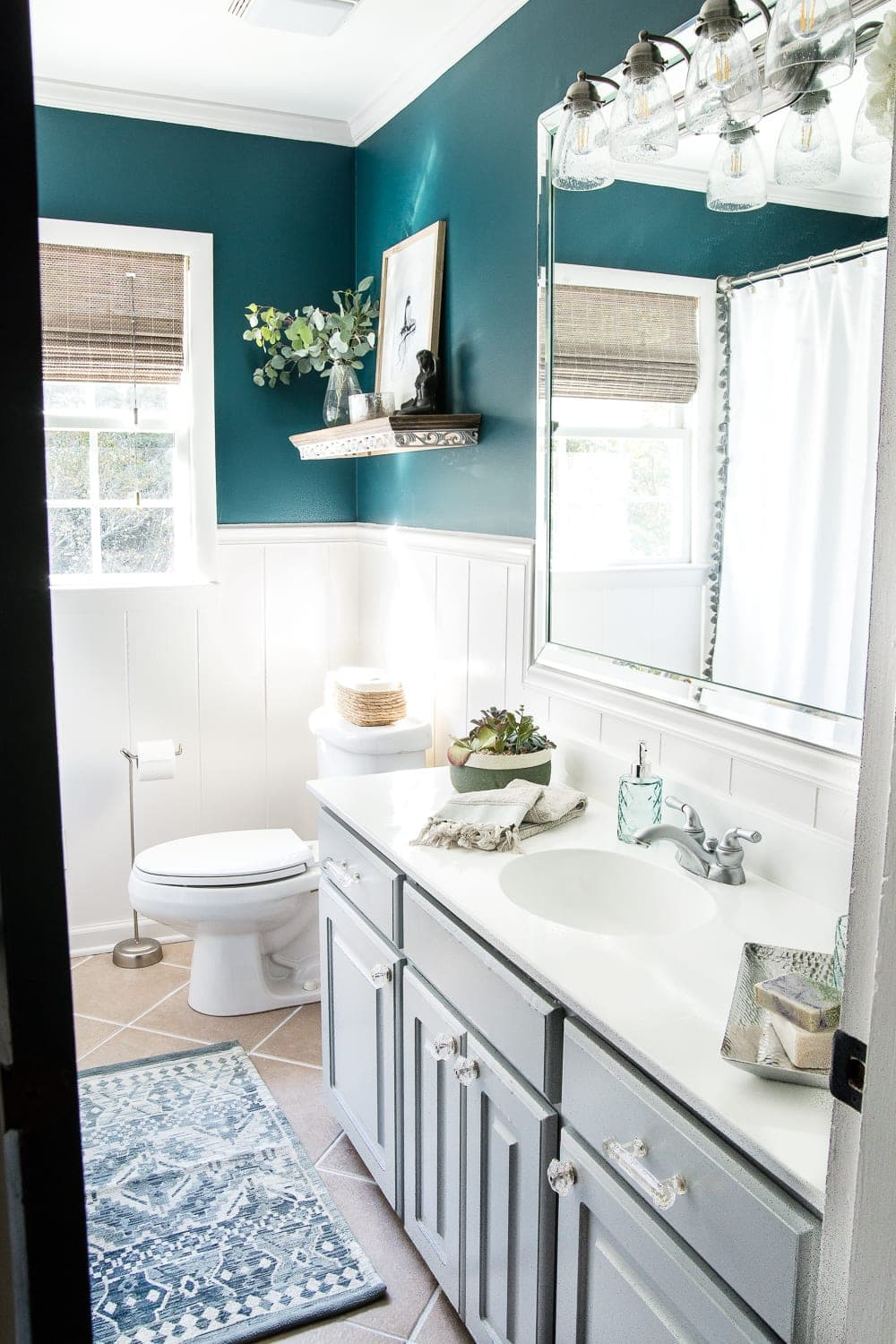 Whimsical, classic kids bathroom makeover | before