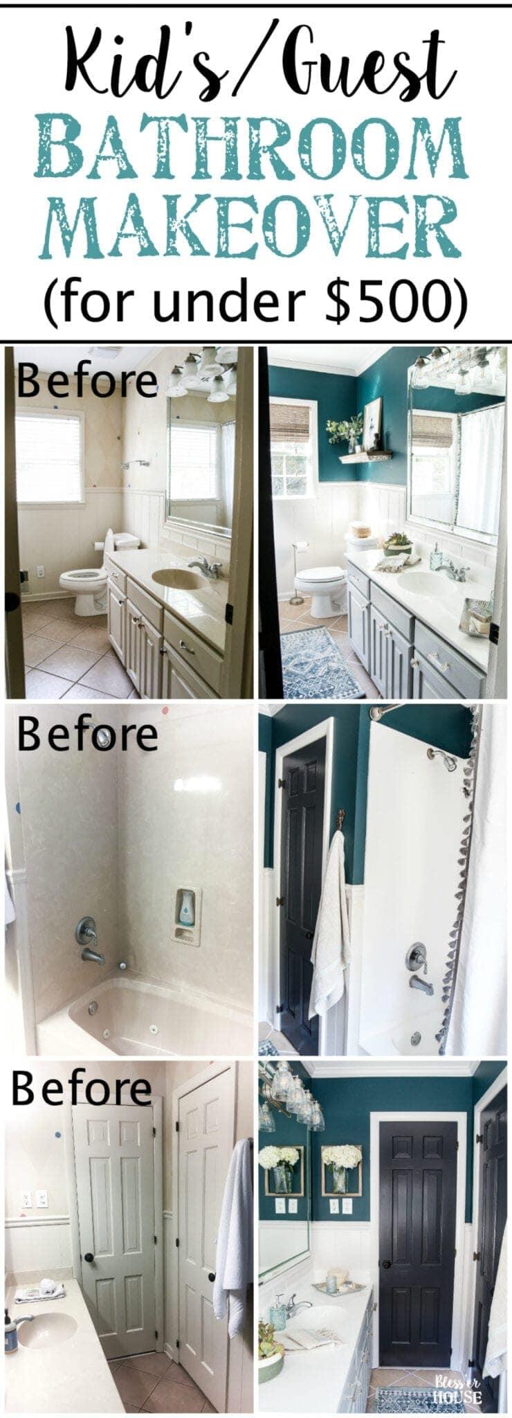 Kids Guest Bathroom Makeover Reveal Blesser House
