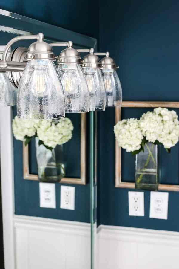 The Easiest Way to Refresh a Light Fixture | blesserhouse.com - One simple way to refresh a bathroom vanity light fixture inexpensively and in under 5 minutes without any electrical work. #lightfixture #simplediy