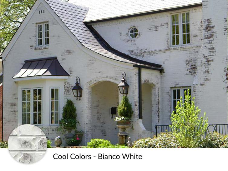 Limewash Brick Exterior Plans | blesserhouse.com - A full exterior brick house makeover plan using real slaked limewash paint and trim color options for a classic European look.