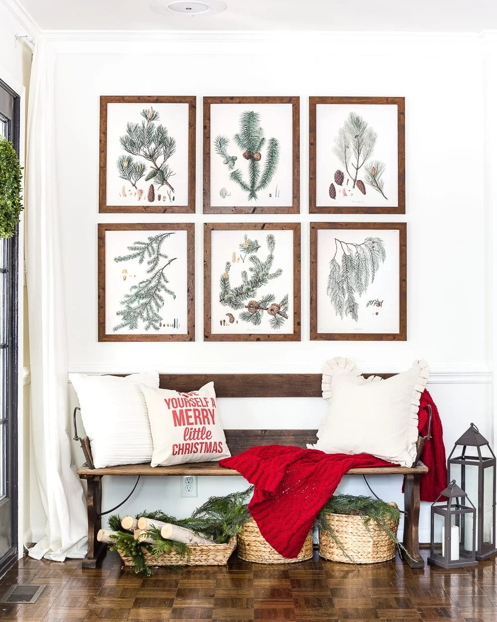 Thrifty Christmas decorating idea: Use public domain images of winter botanicals for wall art