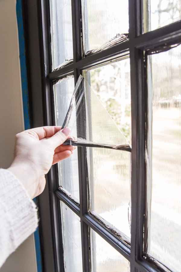 The Best Trick for Painting French Doors | blesserhouse-com - A quick tip for painting French doors without scraping, taping, or splotchy peeling paint. This trick saves SO much time and looks amazing like a factory finish!