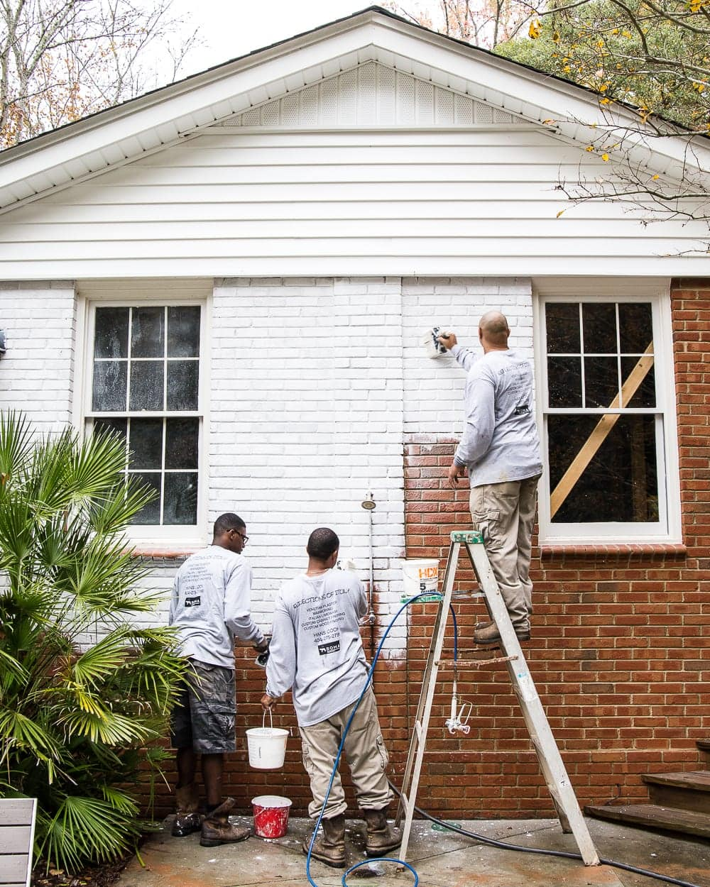 Questions to always ask before hiring contractors - limewashing a brick house