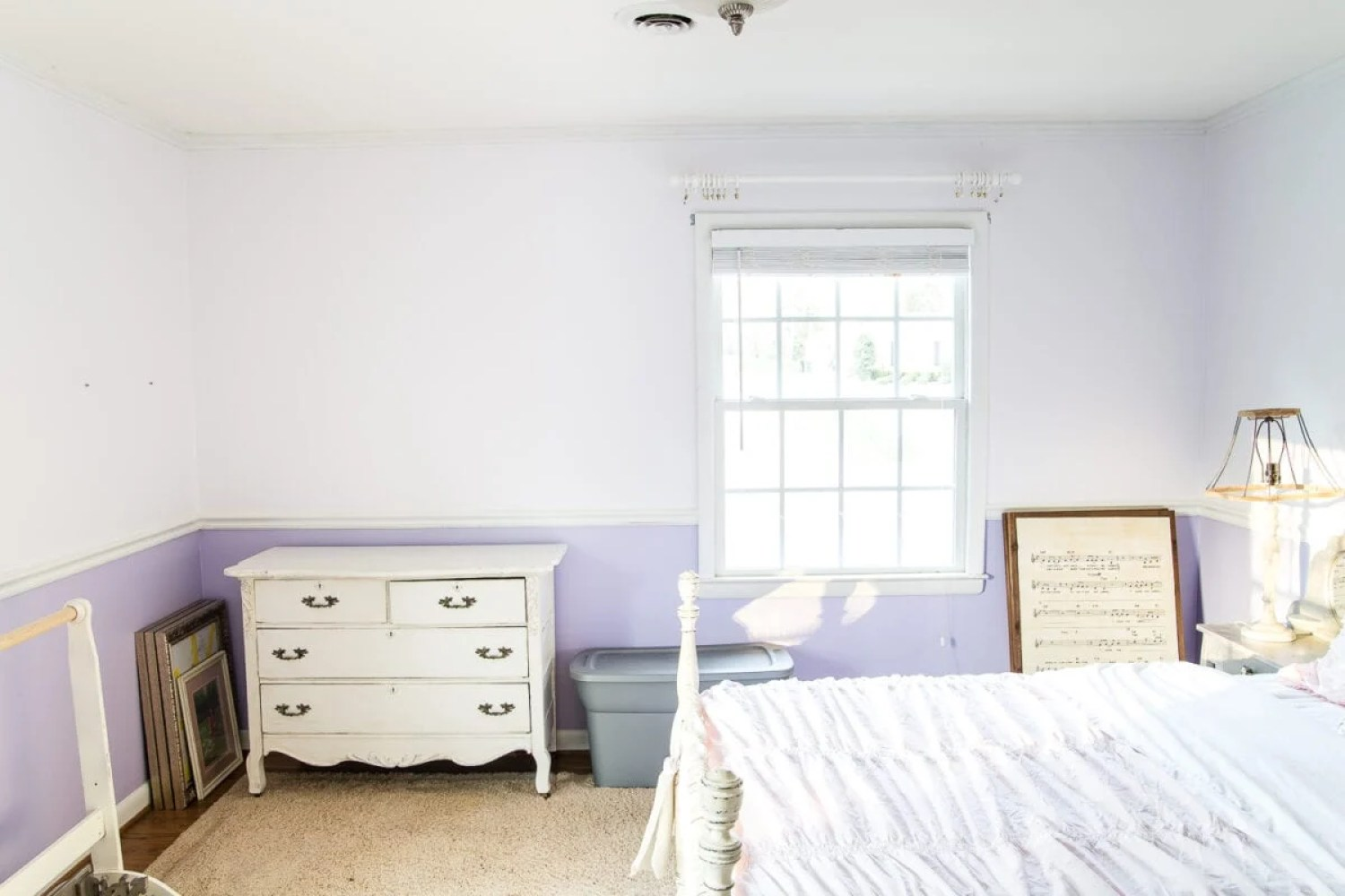 A little girl bedroom makeover with a butterfly theme full of thrifty makeovers, DIYable projects, and Anthropologie style knock-offs. #girlbedroom #littlegirlbedroom #girlroom #littlegirlroom #kidsspaces #kidsdecor #kidsroom #kidsdiy #bedroommakeover #kidsroommakeover #girlbedroommakeover