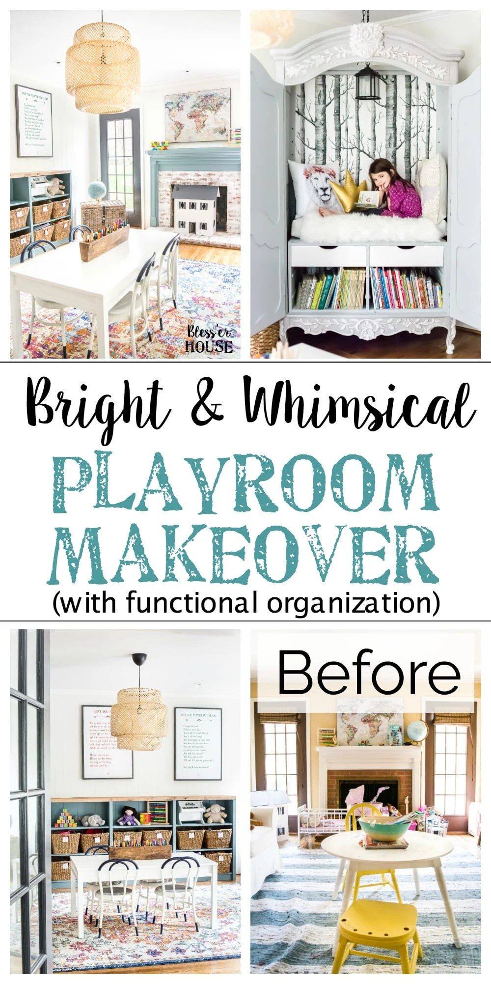 Top 10 Home and DIY Blog Posts of 2018 | Bright and Whimsical Playroom Makeover