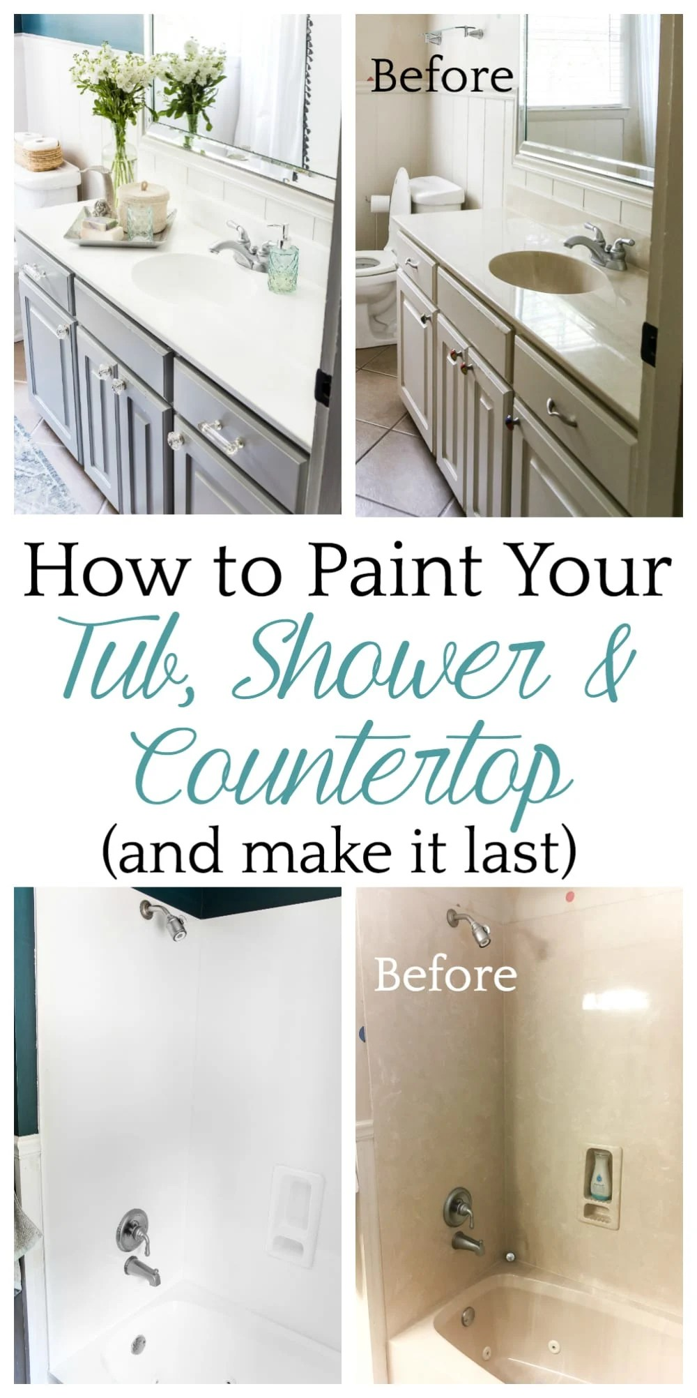 Top 10 Home and DIY Blog Posts of 2018 | How to Paint Your Tub, Shower, Sink & Countertop and make it last