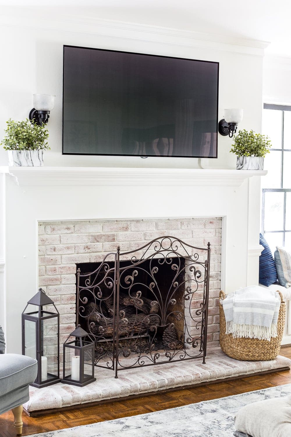 A list of decorating solutions to hide and blend your television to make it work beautifully in any room.