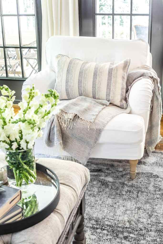 These pretty ideas will pull the plug on the can. New Slipcovers for the IKEA Living Room Furniture - Bless ...