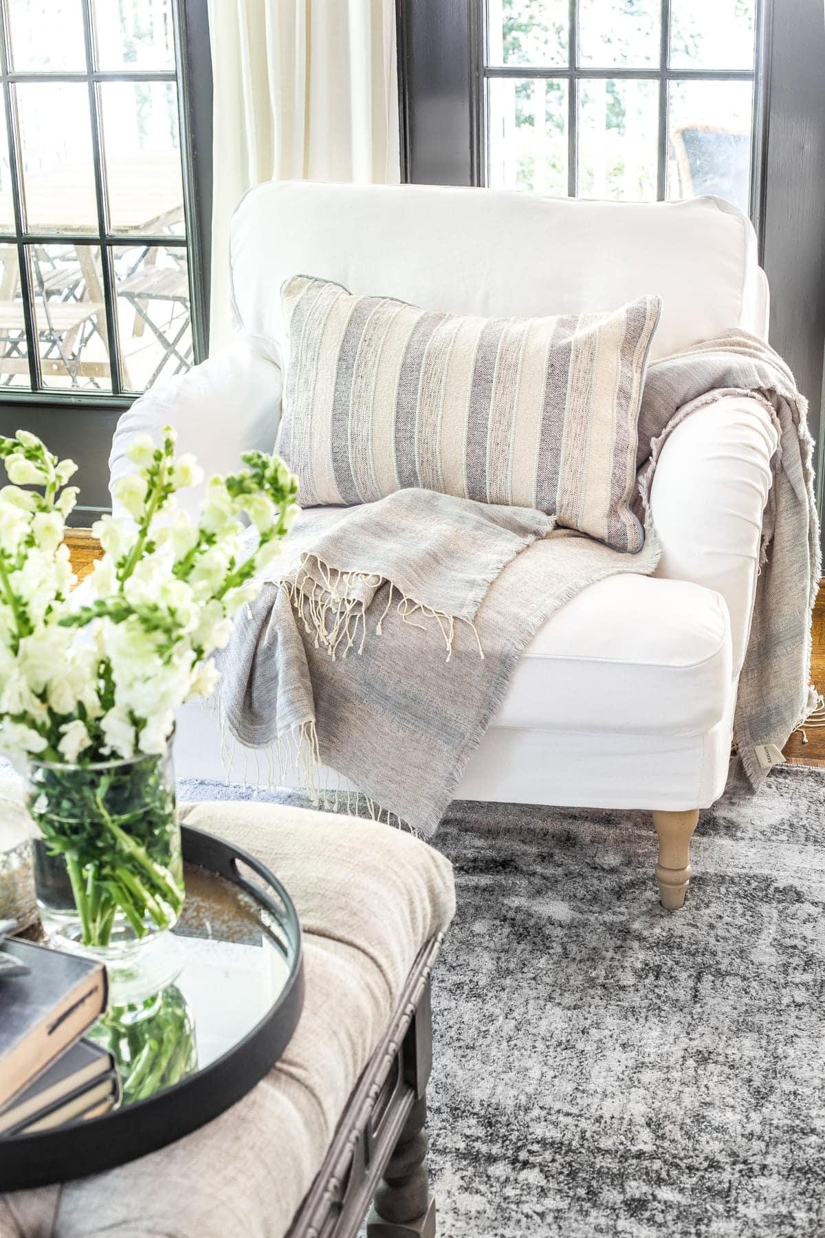 New Slipcovers For The Ikea Living Room Furniture Bless Er House