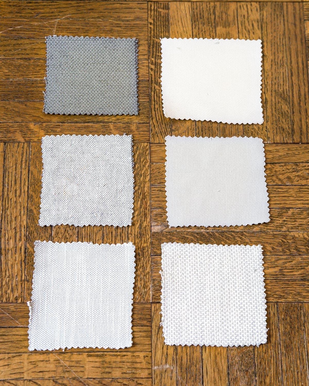 Bemz slipcovers fabric samples