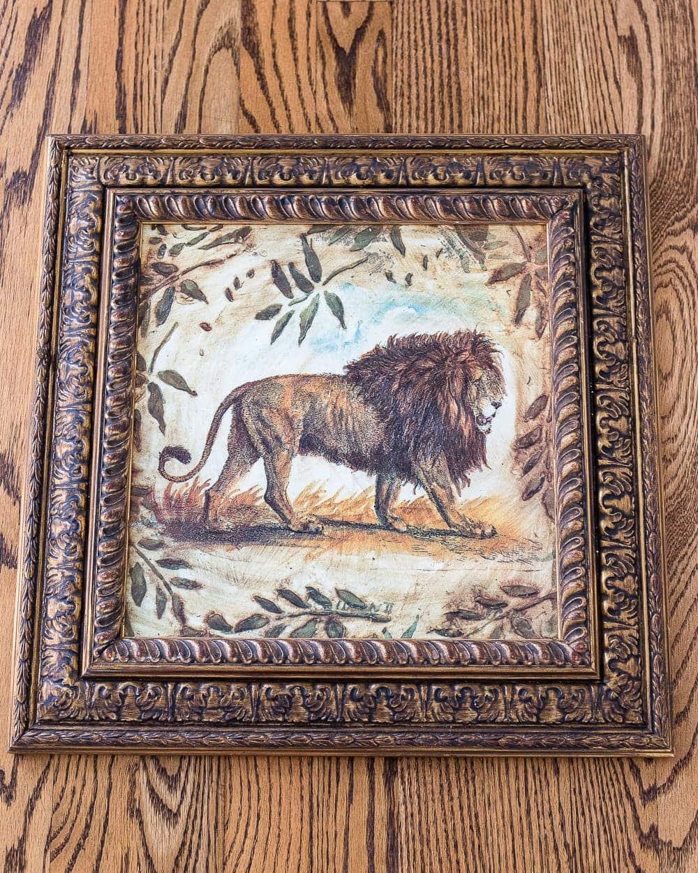 thrifted frame