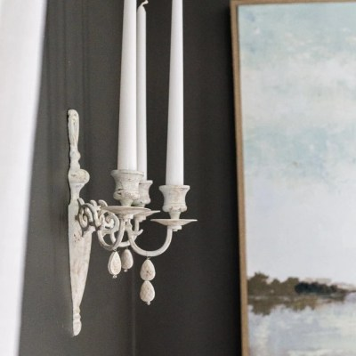 DIY French Sconce from 80s Brass