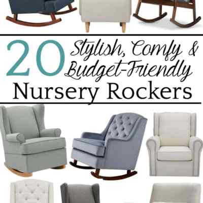 20 Stylish Budget-Friendly Nursery Gliders