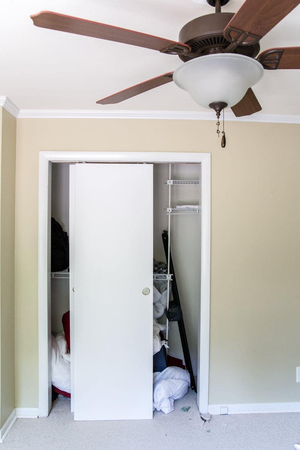 Nursery Closet Makeover | before