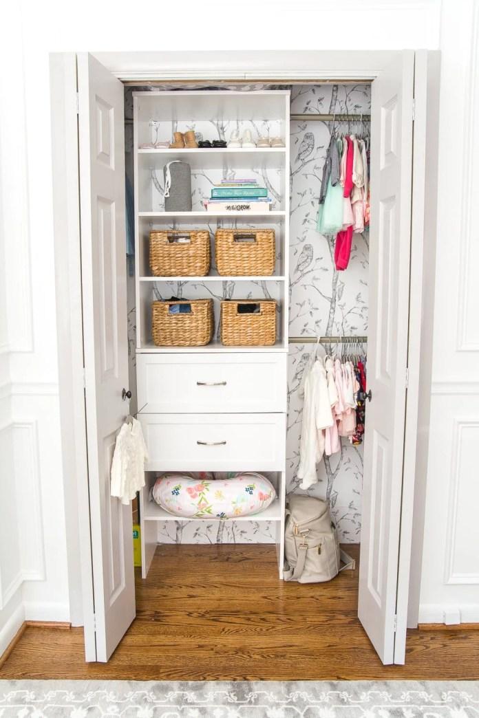 Nursery Closet Makeover and Free Printable Closet Dividers
