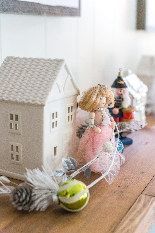 Little nutcracker doll decor for a playroom for Christmas