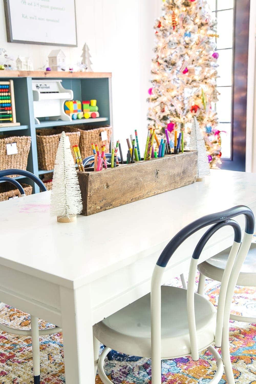 Kids' playroom play table Christmas