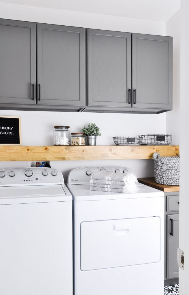 How to Organize a Small Laundry Room - Bless'er House on Laundry Room Organization Ideas  id=56077