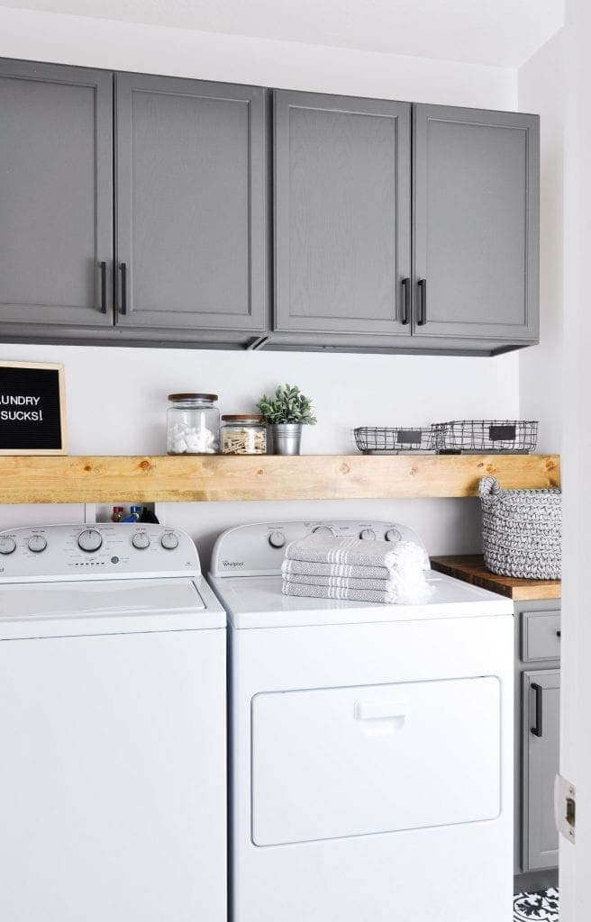 How to Organize a Small Laundry Room - Bless'er House on Small Laundry Room Cabinets  id=96917