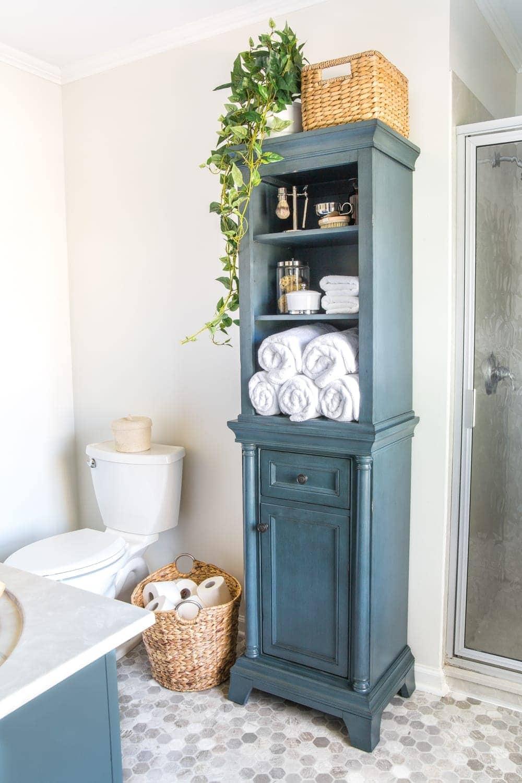 Linen Cabinet Decor