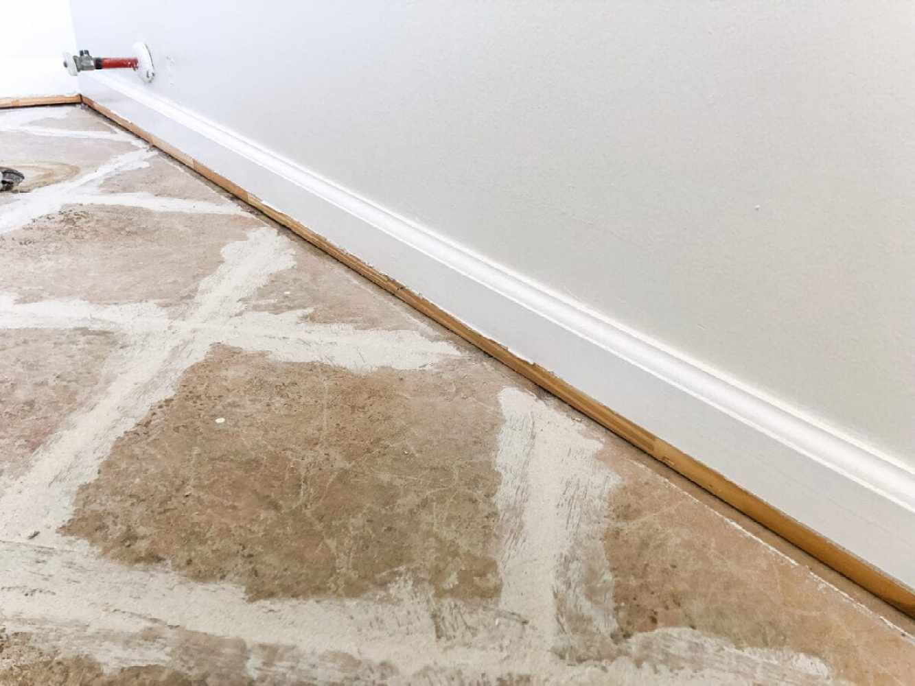 How to install sheet vinyl flooring over old tile   remove trim