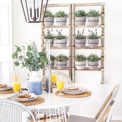 Scandinavian Farmhouse Breakfast Nook