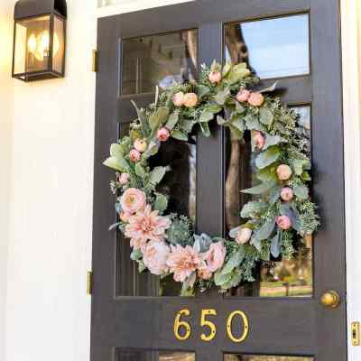 DIY Sage and Blush Spring Wreath