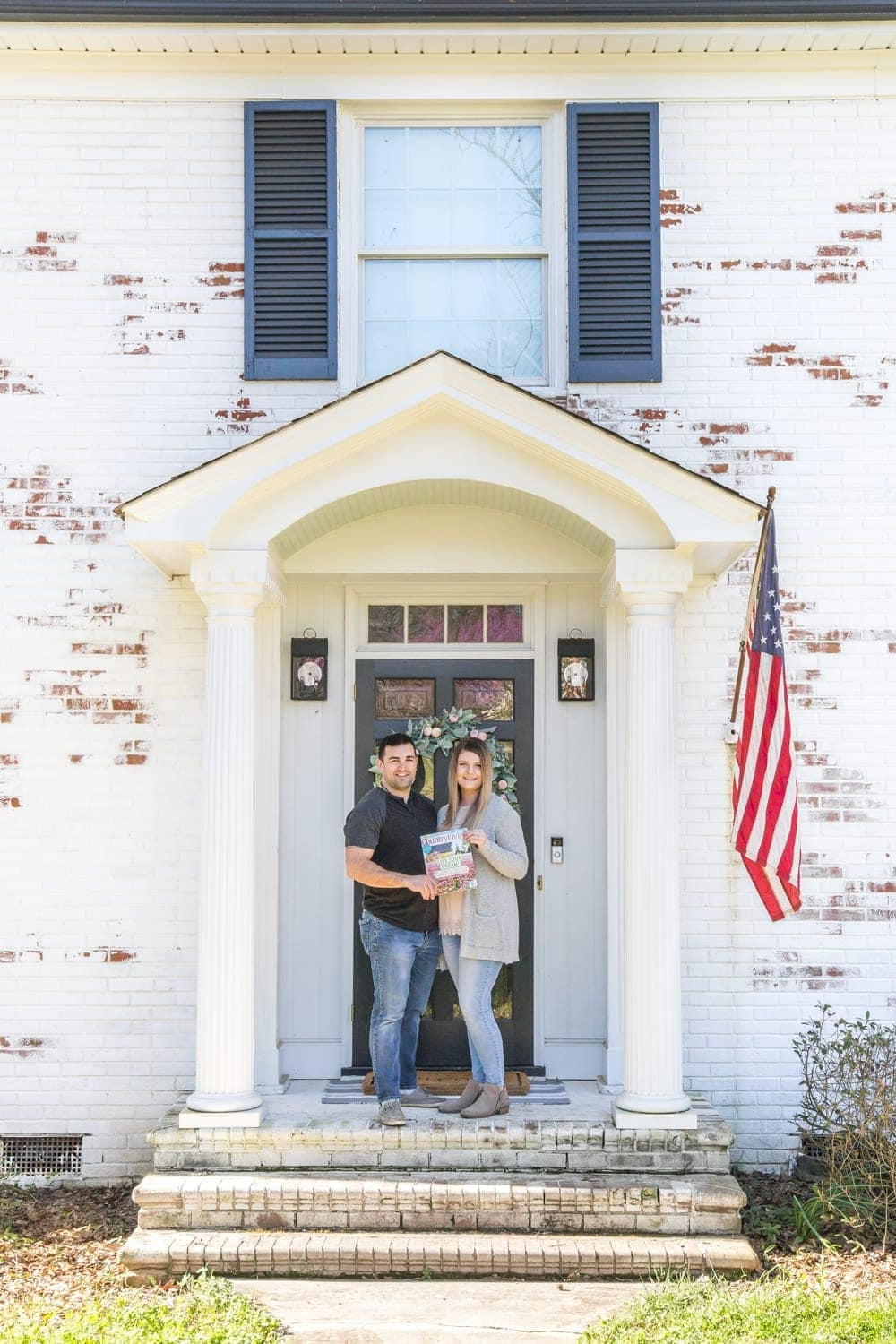 FAQs About Our Limewashed Brick | All of our frequently asked questions about our limewashed brick concerning neighbors' opinions, trends, DIY-ability, and why we chose it over paint. #limewash #brickexterior #limewashedbrick #brickpaint #paintedbrick #exteriormakeover #curbappeal #brickhouse