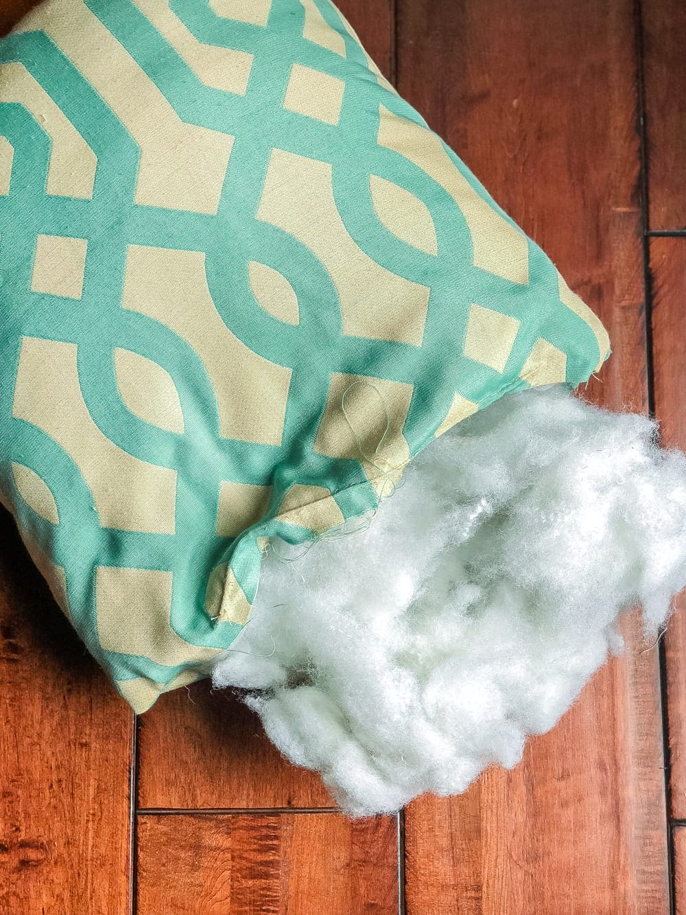 3 items you can repurpose into DIY no-sew throw pillows   Reuse polyfill from old pillows to make new ones and save money