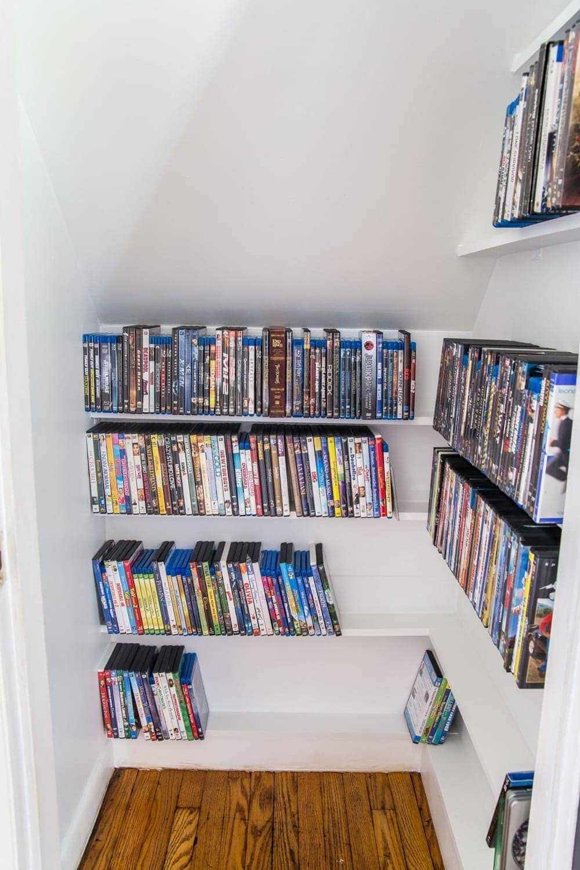 DIY DVD Storage Closet