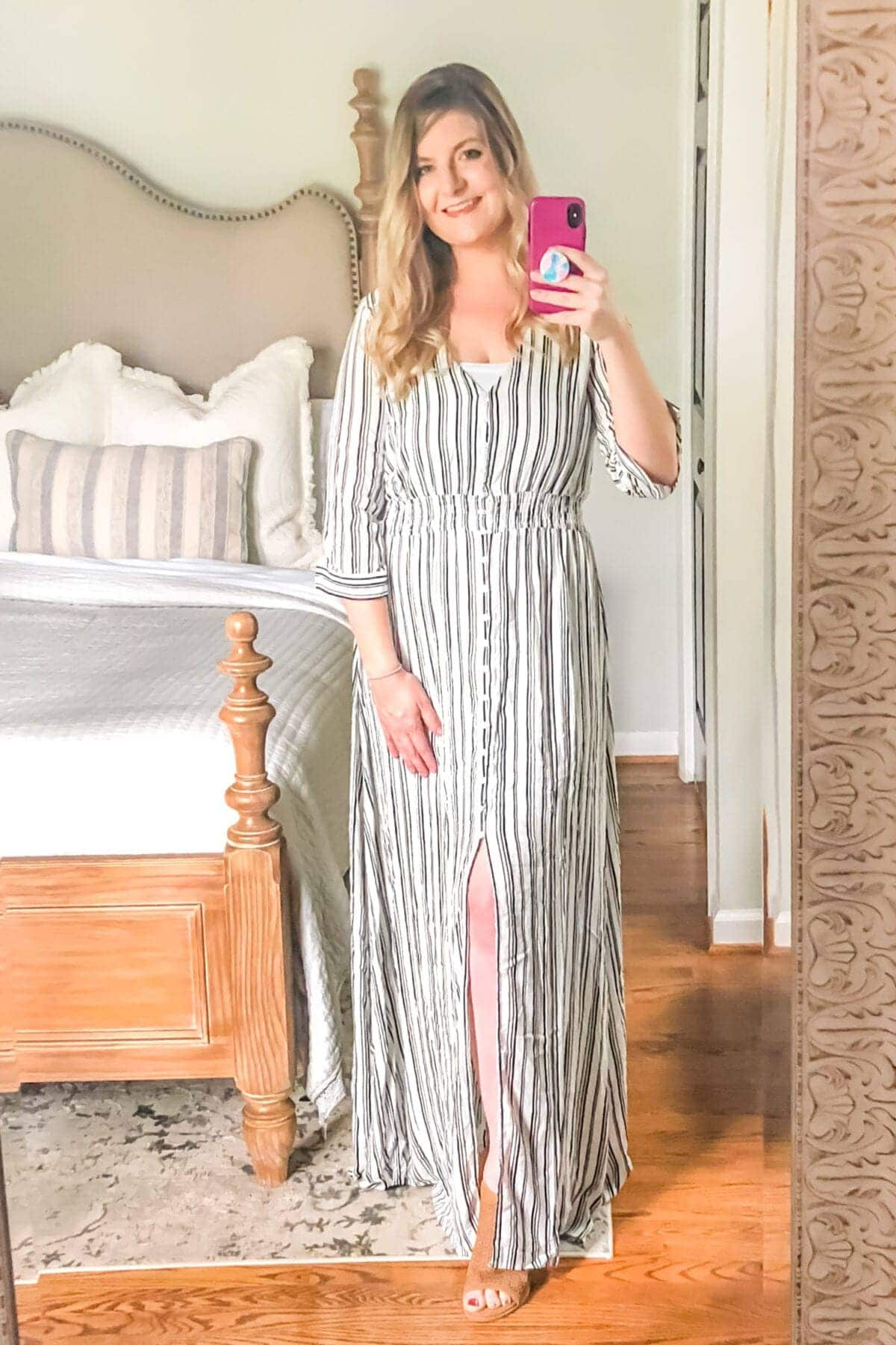 How to Hide Mom Belly Pooch | Maxi Dresses